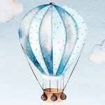 Hot Air Balloon Blue
