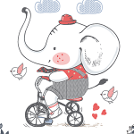 Childhood Boy Elephant
