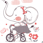 Childhood Girl Elephant