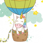 Unicorn Dreams - Hot Air Balloon