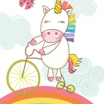 Unicorn Dreams Rainbow Bike
